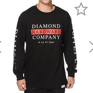 Diamond supply Co black long sleeve large